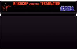 Cartridge artwork for Robocop vs. the Terminator on the Sega Master System.
