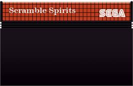Cartridge artwork for Scramble Spirits on the Sega Master System.