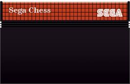 Cartridge artwork for Sega Chess on the Sega Master System.