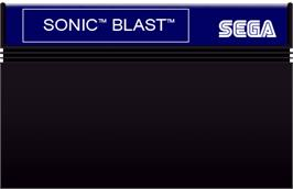 Cartridge artwork for Sonic Blast on the Sega Master System.