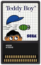 Cartridge artwork for Teddy Boy on the Sega Master System.