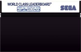Cartridge artwork for World Class Leaderboard on the Sega Master System.
