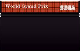 Cartridge artwork for World Grand Prix on the Sega Master System.