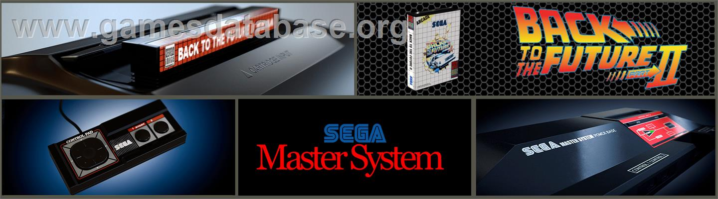 Back to the Future 2 - Sega Master System - Artwork - Marquee