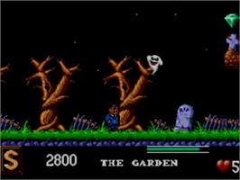 In game image of Addams Family, The on the Sega Master System.