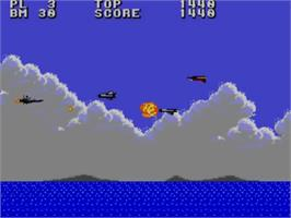 In game image of Aerial Assault on the Sega Master System.