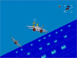 In game image of After Burner on the Sega Master System.