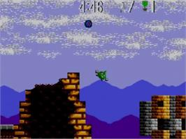 In game image of Air Rescue on the Sega Master System.