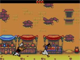 In game image of Aladdin on the Sega Master System.