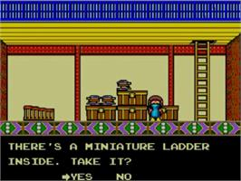 In game image of Alex Kidd: High-Tech World on the Sega Master System.