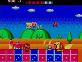 In game image of Alex Kidd: The Lost Stars on the Sega Master System.