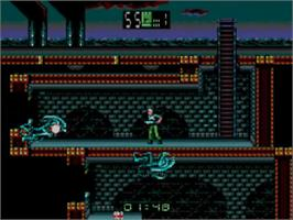In game image of Alien³ on the Sega Master System.