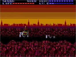 In game image of Assault City on the Sega Master System.