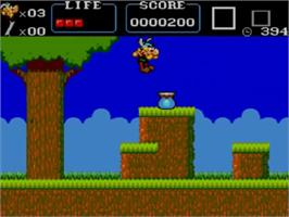 In game image of Asterix on the Sega Master System.