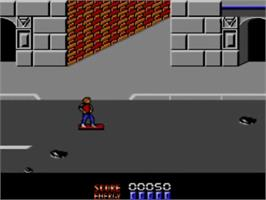 In game image of Back to the Future 2 on the Sega Master System.