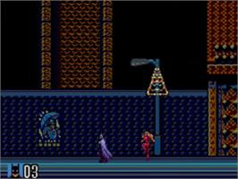 In game image of Batman Returns on the Sega Master System.
