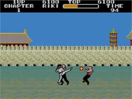 In game image of Black Belt on the Sega Master System.