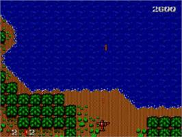 In game image of Bomber Raid on the Sega Master System.