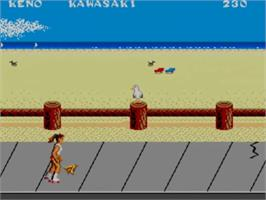 In game image of California Games on the Sega Master System.