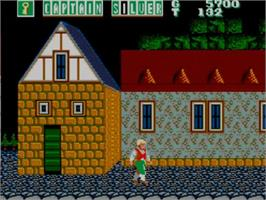 In game image of Captain Silver on the Sega Master System.