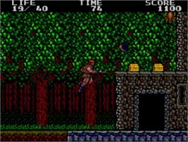 In game image of Danan the Jungle Fighter on the Sega Master System.