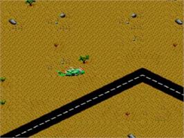 In game image of Desert Strike: Return to the Gulf on the Sega Master System.