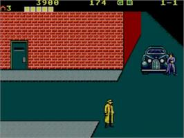 In game image of Dick Tracy on the Sega Master System.