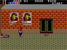 In game image of Double Dragon on the Sega Master System.
