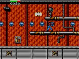 In game image of Dragon: The Bruce Lee Story on the Sega Master System.