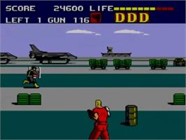 In game image of Dynamite Duke on the Sega Master System.