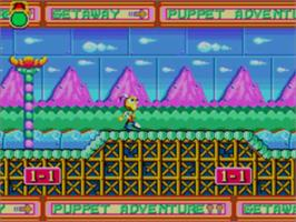 In game image of Dynamite Headdy on the Sega Master System.