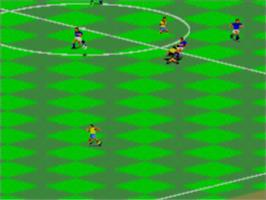 In game image of FIFA International Soccer on the Sega Master System.