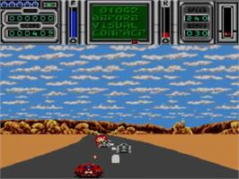In game image of Fire and Forget 2: The Death Convoy on the Sega Master System.
