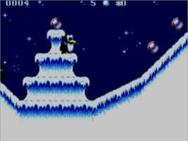 In game image of Fire and Ice on the Sega Master System.