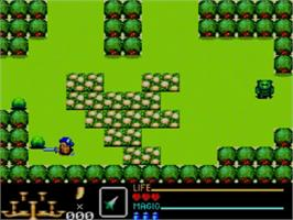 In game image of Golden Axe Warrior on the Sega Master System.