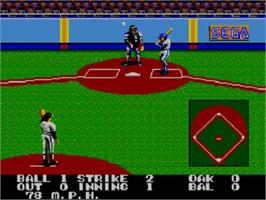 In game image of Great Baseball on the Sega Master System.