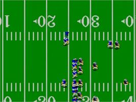 In game image of Great Football on the Sega Master System.