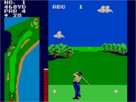 In game image of Great Golf on the Sega Master System.