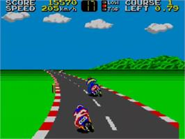 In game image of Hang-On on the Sega Master System.