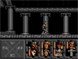 In game image of Heroes of the Lance on the Sega Master System.