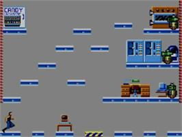 In game image of Impossible Mission on the Sega Master System.