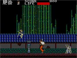 In game image of Kenseiden on the Sega Master System.