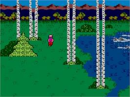 In game image of King's Quest on the Sega Master System.