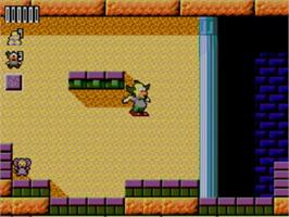 In game image of Krusty's Fun House on the Sega Master System.