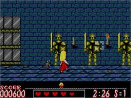 In game image of Laser Ghost on the Sega Master System.