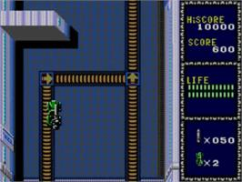 In game image of Line of Fire / Bakudan Yarou on the Sega Master System.