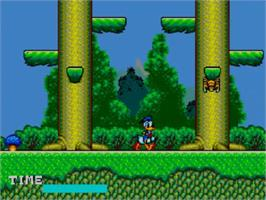 In game image of Lucky Dime Caper starring Donald Duck on the Sega Master System.