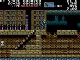 In game image of Master of Darkness on the Sega Master System.