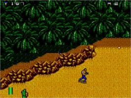In game image of Mercs on the Sega Master System.
