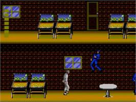 In game image of Michael Jackson's Moonwalker on the Sega Master System.